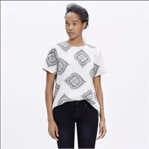 Madewell Tailored Tee Estate Paisley Top